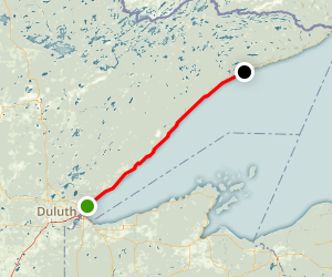 North Shore Highway 61 from Duluth Map