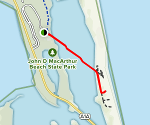 Boardwalk to Beach Trail Map