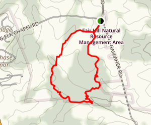 Area B Red Loop Trail Map