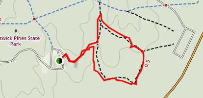 Hartwick Pines Loop Map