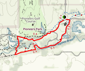 Pioneers Park Trails Map
