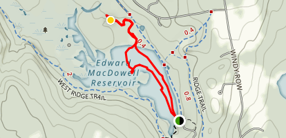 Edward MacDowell Lake Map