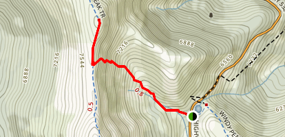 Hailstone Butte Lookout Map