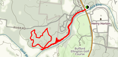 River Trail to Hickory Ridge Loop Map