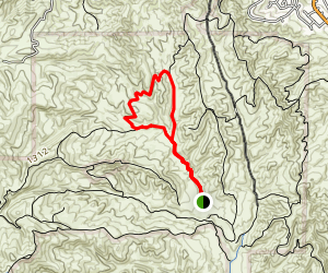 Upper Aliso Canyon-Sidewinder Trail Loop Map