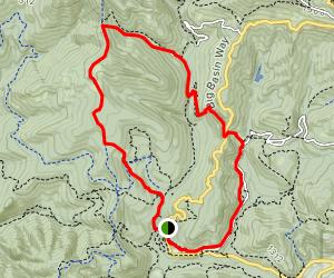 Dool Trail to Middle Ridge Road to Meteor Trail to Sequoia Trail Map
