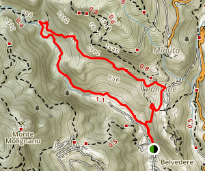 Valle dei Mulini and Valle delle Ferriere Loop Trail Map