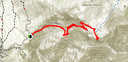Mount Redentore Trail Map