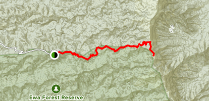 Poamoho Ridge Trail Map