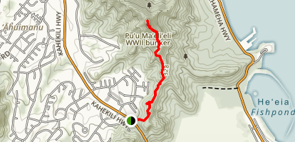 Puu Maelieli Trail [PRIVATE PROPERTY] Map