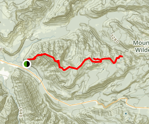 Zig Zag Mountain to Burnt Lake and Cast Lake Map
