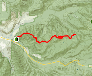 Zig Zag Mountain Trail to Burnt Lake and Cast Lake Map