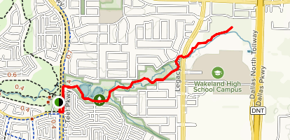 Cottonwood Creek Greenbelt Trail Map