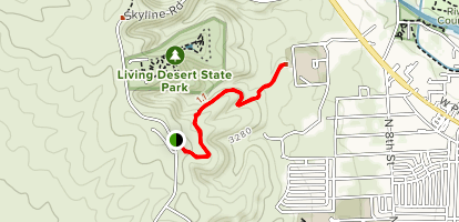 Ocotillo Hills Nature Trail Map