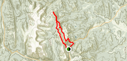 Hailstone Butte Sentinel Peak Map