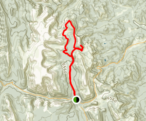 Sentinel Peak Trail to Iron Mountain Shortcut Loop Map