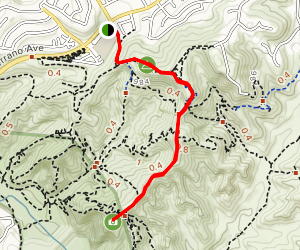 Barham Ridge Trail Map