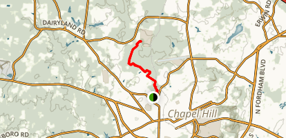 Wilson Park to Carolina North Forest Via Owasa Corridor Loop Map