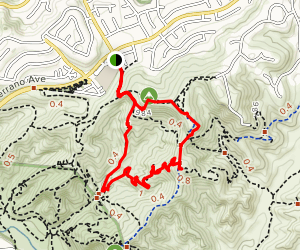 The Rock Trail in Anaheim Hills Map