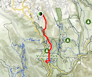 Latters Spur Track Map