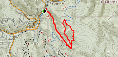 Panorama Point To Bear Creek Trail Loop Map