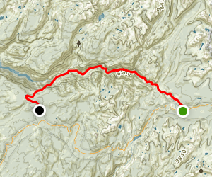 Tuolumne Meadow to White Wolf via Pacific Crest Trail Map