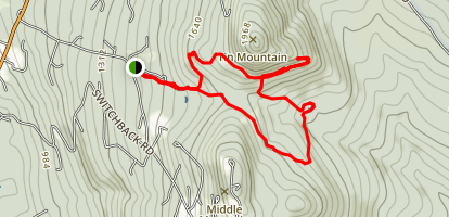 Tin Mountain Trail Map