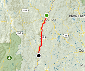 Connecticut River Scenic Drive: Hanover to Bellows Falls Map