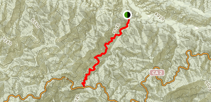 South Fork Trail to Islip saddle Map