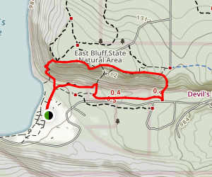 Grottos and East Bluff Loop Trail Map