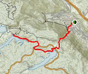 Crystal Falls to Catamount Reservoir Map