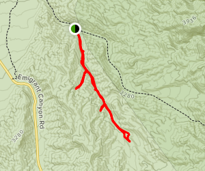 Lower Telephone Canyon Map