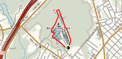 Birch Grove Park Loop Trail Map