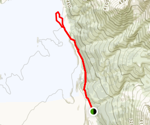Root Glacier and Stairway Icefall Trail Map