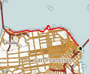 Rincon Park to Crissy Field Map