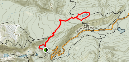 Bear Lake to Bierstadt Lake via Flat Top Mountain Trail Map