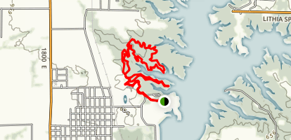General Dacey Lake Shelbyville Trail Map