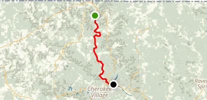 Spring River: Dam 3 to Hardy Map