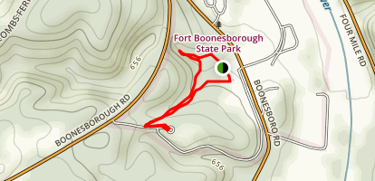 Fort Boonesborough Campground Loop Trail Map