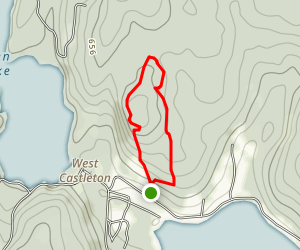 Bomoseen Hiking Loop Map