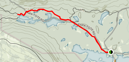Upper and Lower Togue Ponds and Abol Pond Map