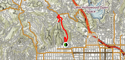 Runyon Park to Indian Rock Map