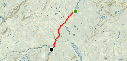 Kennebec River: Harris Station Dam to The Forks (Route 201) Map
