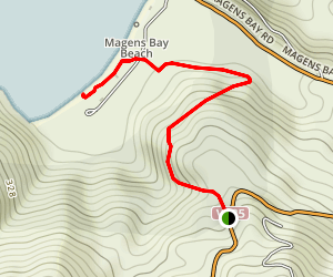 Magen's Bay Beach Trail Map