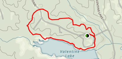 Valentine Lake Nature Trail Map