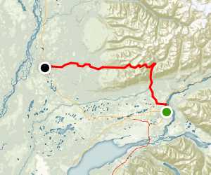 Hatcher Pass Scenic Drive Map