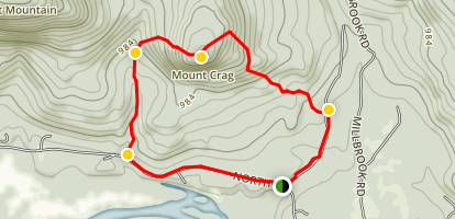 Mount Crag Loop Map