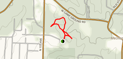 Rotary Nature Trail at North Woods Map