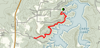 Cove Hollow Trail to Cedar Lake Trail Map