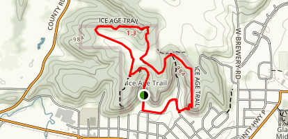 Ice Age Trail Hickory Hills Loop Map
